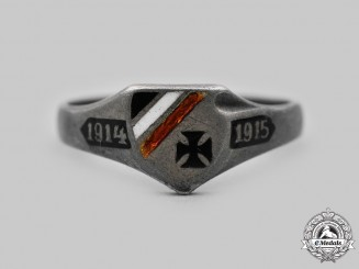 Germany, Imperial. A First World War Patriotic Silver Ring