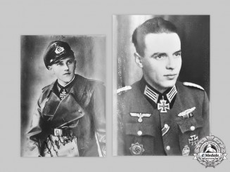 Germany, Heer. A Pair of Postwar Signed Photos of Knight's Cross Recipients