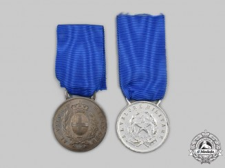 Italy, Kingdom, Republic. Two Medals for Military Valour