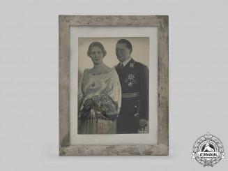 Germany, Third Reich. A Signed & Framed Portrait of Reichsmarschall Hermann Göring & Emmy Sonnemann