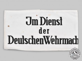 Germany, Wehrmacht. An Auxiliary's Armband