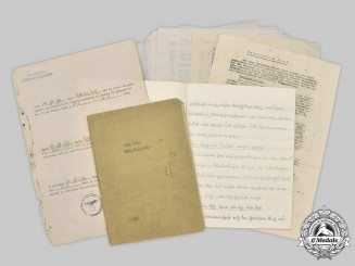 Germany, Kriegsmarine. Two Instruction Manuals for Serving on Board Ship by Obergefreiter Rolf Lichtblau