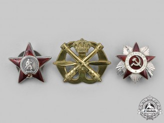 Russia, Soviet Union. A Lot of Badges