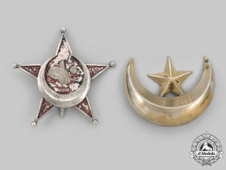 Turkey, Ottoman Empire. A Pair of Badges