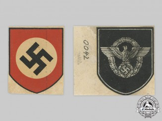 Germany, Ordnungspolizei. A Set of Mint and Unissued Stahlhelm Decals