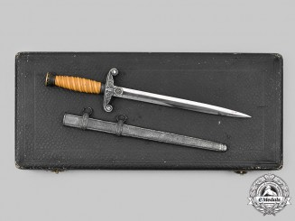Germany, Heer. A Miniature Officer's Miniature Dagger with Presentation Case, by A.Coppel