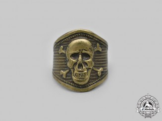 Italy, Kingdom. A Fascist-Period Arditi Skull Ring