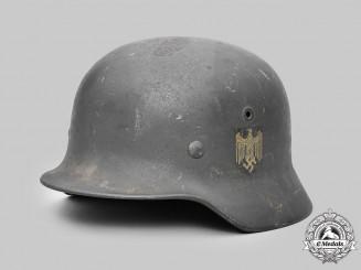 Germany, Heer. A Single Decal M40 Steel Helmet, by F.W. Quist