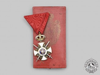 Serbia, Kingdom. An Order of the Star of Karageorge, IV Class Officer with Swords, by Arthus Bertrand & Co., c.1915