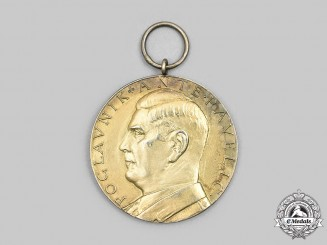Croatia, Independent State. A Unique Ante Pavelić Golden Bravery Medal, c.1941/42