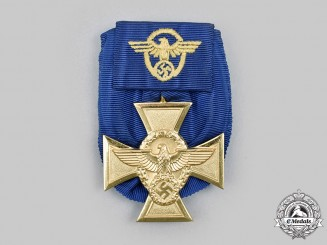 Germany, Ordnungspolizei. A Police Long Service Cross, I Class for 25 Years