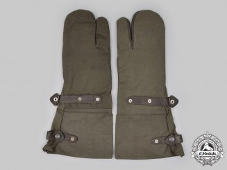 Germany, Wehrmacht. A Set of Motorcycle/Dispatch Rider Gloves, by R. Ehekircher, c.1942