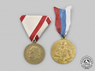 Montenegro, Kingdom. Two Commemorative Medals