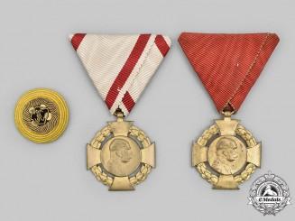 Austria, Empire. Two Commemorative Crosses and a Cockade