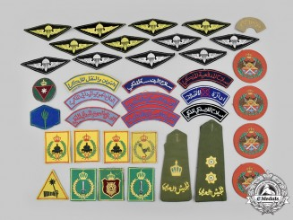 Jordan, Hashemite Kingdom. A Lot of Thirty-Seven Jordanian Armed Forces Items