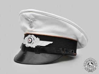 Germany, Luftwaffe. A Communications EM/NCO's Summer Visor Cap, by L. & W. Storz