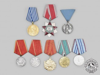 Bulgaria, Romania, Russia, Yugoslavia. A Lot of Eight Awards