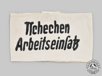 Germany, Third Reich. A Czech Forced Labourer's Armband
