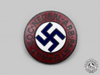 Netherlands, Kingdom. A Rare National Socialist Dutch Workers Party Membership Badge