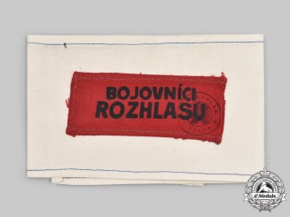 Czechoslovakia, Republic. A Rare Defenders of Prague Radio Armband 1945