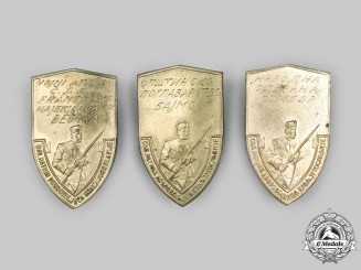 Yugoslavia, Kingdom. A Lot of Three War Veteran's Badges, c.1935