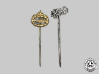 Germany. A Pair of Miniature Award Stick Pins
