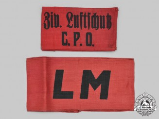 Czechoslovakia, Republic, Socialist Republic. Two Armbands