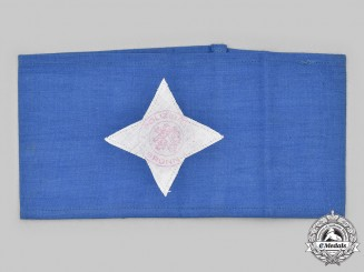 Czechoslovakia, Republic. A Bohemia and Moravia (BuM) City of Brno Police Helper Armband
