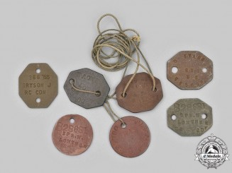 Canada, United Kingdom. A Second War Lot of Seven Military Identification Tags