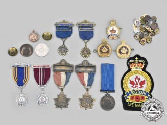 Canada, Commonwealth. A Lot of Thirty-Five Royal Canadian Legion Items