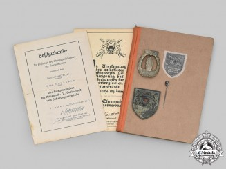 Germany, Kriegsmarine. A Rare Lot of Awards & Documents to Heinz Kollmann, Tigerverband