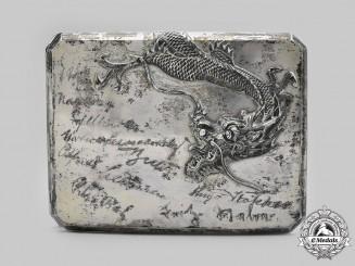 Germany, Weimar Republic. A Silver Cigarette Case to Major von Wangenheim, Advisor to Chiang Kai-shek