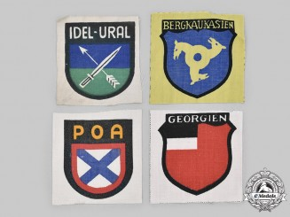 Germany, Wehrmacht. A Lot of Foreign Volunteer Sleeve Insignia