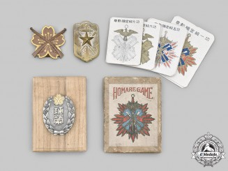 Japan, Empire. A Lot of Three Badges and a Homare Game