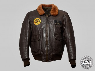 "United States. A Vietnam War (USN) G1 Men's Flying Jacket, Squadron 263 ""Thunder Chickens"""