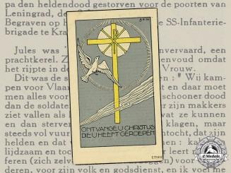 Germany, SS. A Death Card to SS-Sturmmann Julius Geurts, Flemish Legion Volunteer