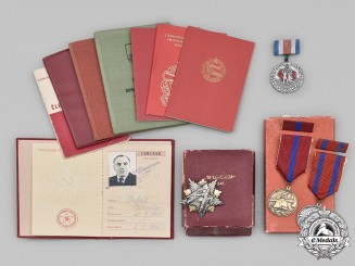 Yugoslavia, Czechoslovakia. A Lot of Four Socialist Awards and Eight Award Booklets