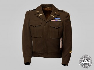 "United States. An Army 101st Airborne ""Screaming Eagles"" Jacket and Overseas Garrison Cap"