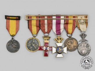 Spain, Kingdom, Francoist Era. Six Medals & Awards