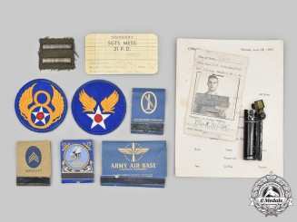 United States. Eleven USAAF Sergeant's Items, c.1944