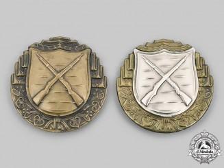 Czechoslovakia, Republic. Two Army Rifleman Proficiency Badges