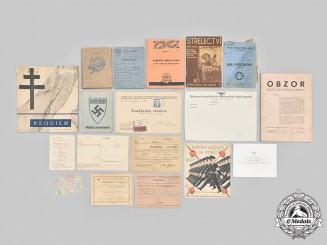 Slovakia, Republic; Germany, Third Reich; Czechoslovakia, Socialist Republic. A Lot of Eighteen Items