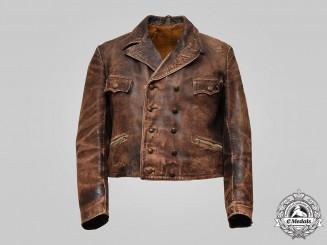 Germany, BDM. A Rare BDM Leather Climbing Jacket