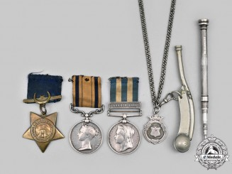 United Kingdom. A South Africa & Egypt Medal Group to Pte. G. Holmes, HMS Himalaya, c. 1880