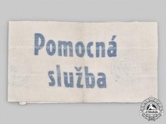 Slovakia, Republic. A Auxiliary Service to the Hlinka Guard Armband, c.1942
