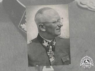 Germany, SS. A Postwar Signed Photo of SS-Obergruppenführer Herbert Gille