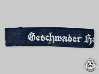 """Germany, Luftwaffe. A Zerstörergeschwader 26 """"Horst Wessel"""" Officer's Cuff Title"""
