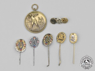 Germany, Federal Republic. A Lot of Sports Pins and Medals