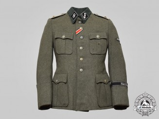 Germany, SS. An 11th SS Volunteer Panzer Division Nordland Obersturmführer's Service Tunic