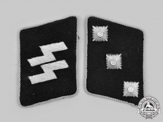 Germany, SS. A Set of Waffen-SS Untersturmführer Collar Tabs